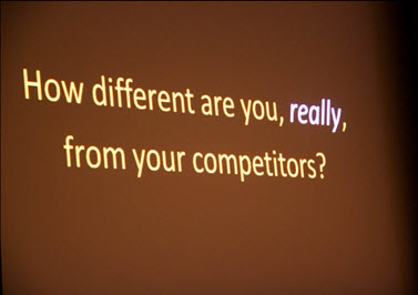 How different are you from your competition? by Rae Stonehouse, Okanagan-based Author, Speaker, Speech/Presentations Coach, Power Networker & Toastmaster Extraordinaire.
