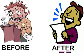 Impromptu Speaking before and after. Which describes you?